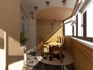 Балкон столовая под дерево