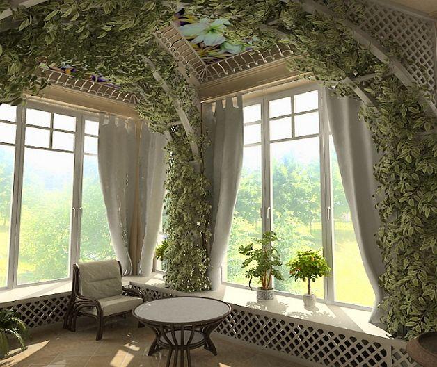 Дизайн веранды — озеленение