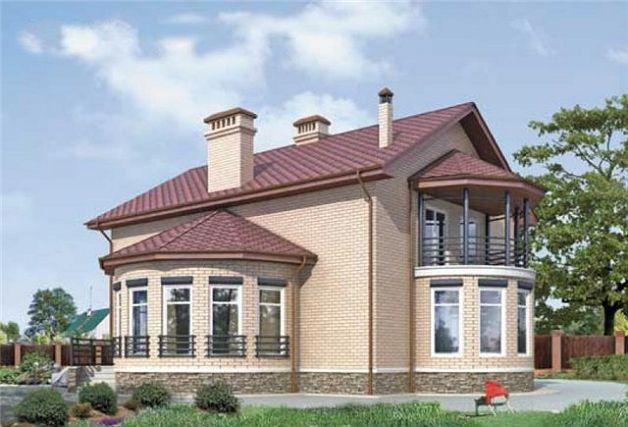 Типичная крыша над эркером в частном доме