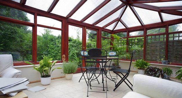 Вариант прозрачной крыши