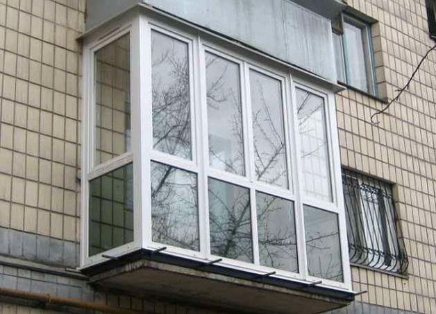 Балкон застекленный ПВХ