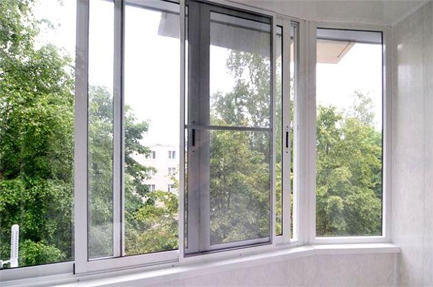 Ремонт лоджии алюминиевыми окнами