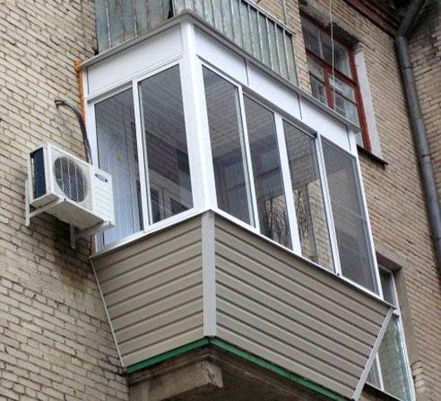 Балкон обшитый сайдингом снаружи