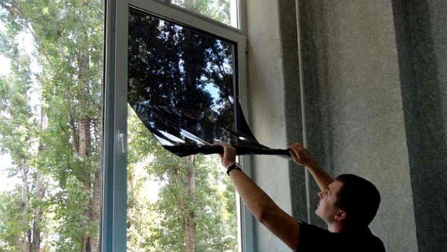 Тонируем балкон зеркально