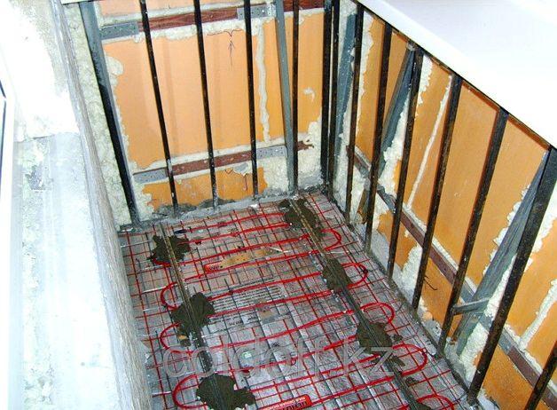 Теплый пол в балконной мастерской