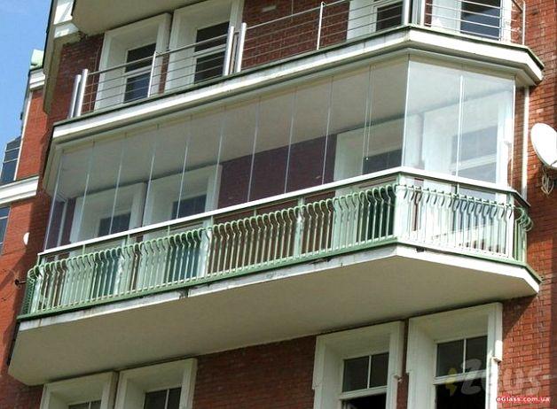 Удлиненный балкон