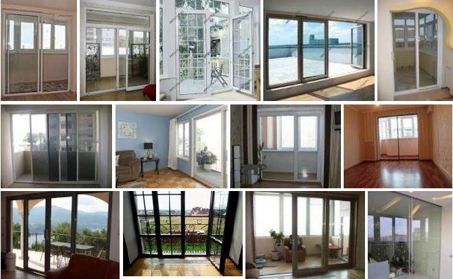 Двери из стекла на балкон