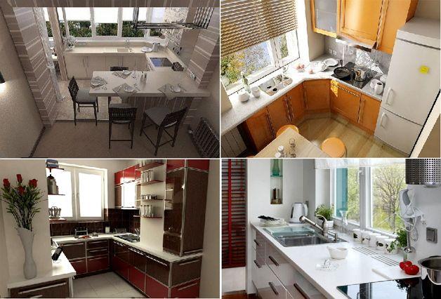 Варианты балконных кухонь