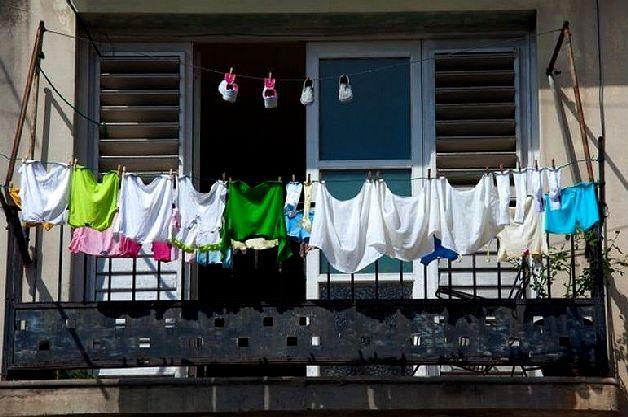 Сушим на балконе