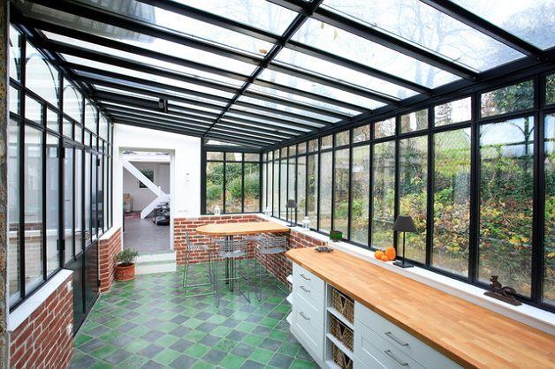 Прозрачная крыша на террасе