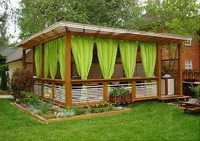 Выбираем шторы для веранд террас и беседок