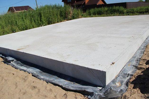 Монолитная плита для террасы к дому