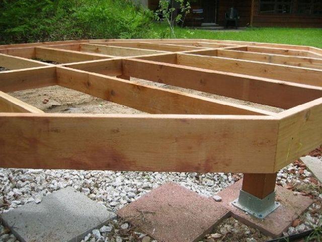 Столбчатый фундамент веранды на даче
