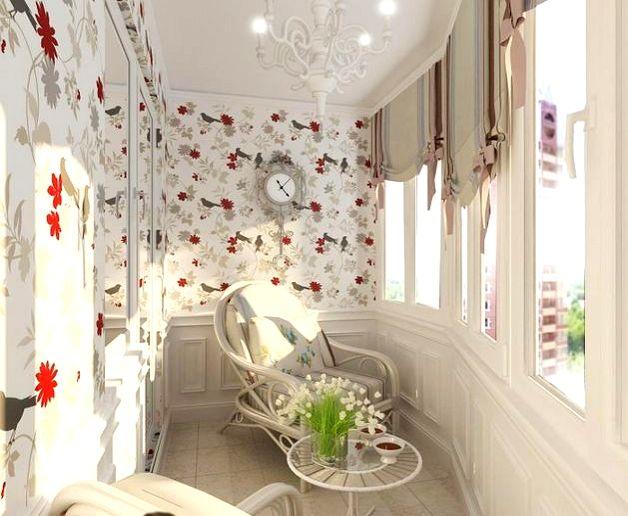 Дизайн балкона в стиле прованс
