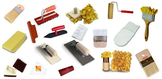 Набор инструментов для штукатурки на балконе