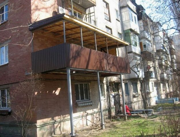 Примыкающий балкон своими руками