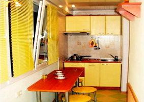Обустройство и дизайн кухни на балконе
