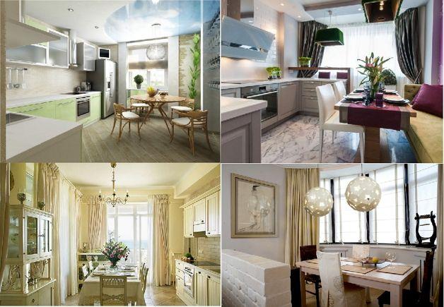 Мебель для кухни с балконом