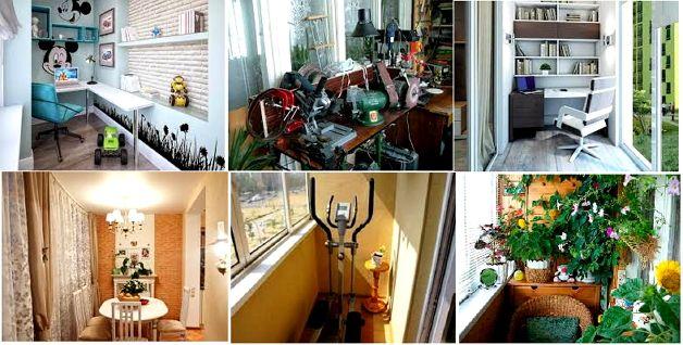 Использование мебели на балконе