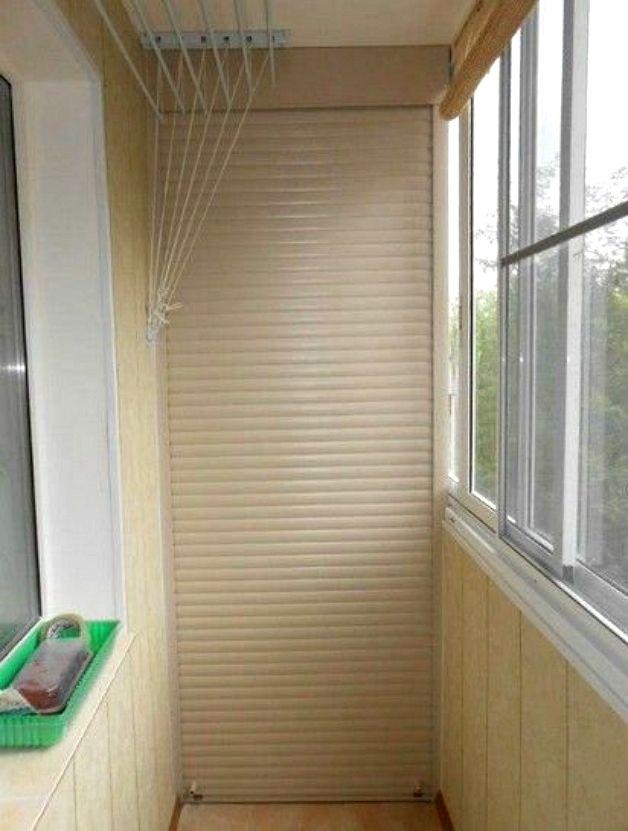 Шкафы балконные с рольставнями